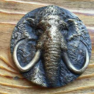2015 Shanghai Mint Prehistoric Animals Mammoth Brass Medal,50mm
