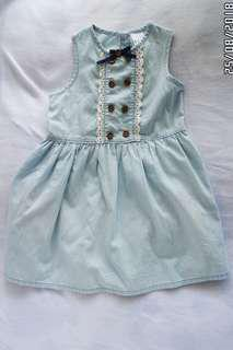 Girl's dress with little stained