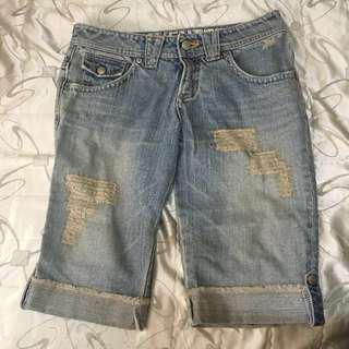 牛仔五分褲