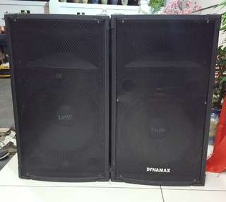 "Dynamax 15"" tsb1015d 2 way PA speaker x2pcs"