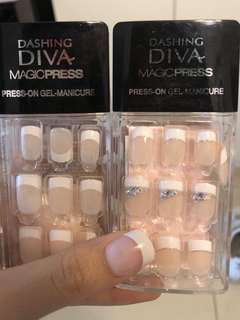 韓國指甲貼 (Korean French manicure nails) DASHING DIVA