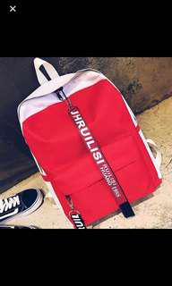 NEW Red Backpack School Bag