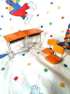 DIORAMA SCHOOL DESK AND CHAIR INCOMPLETE