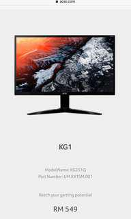 Acer KG251Q Gaming Monitor Full HD