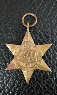 Burma star medal WWI 1939-1945