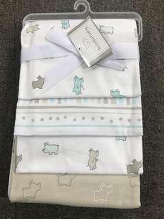 🚚 Koala baby 4pc receiving blanket 100% cotton