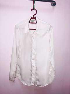 H&M white OL work shirt