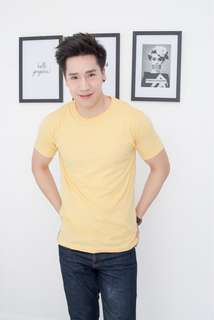 Men's Premium Cotton T-shirt Yellow