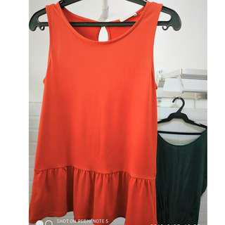 Promod orange semi-formal blouse