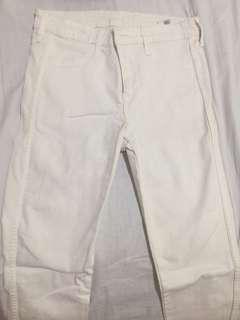 H&M WHITE SKINNY JEANS PANTS