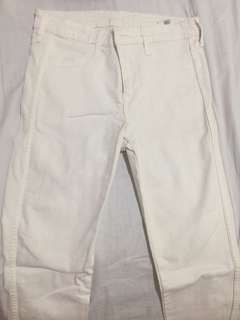 H&M WHITE SKINNY PANTS / JEANS