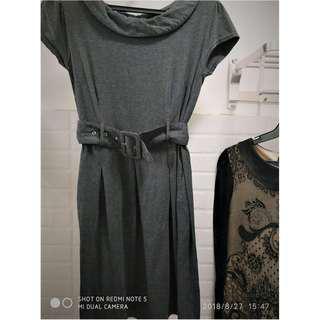 Vintage classy gray dress