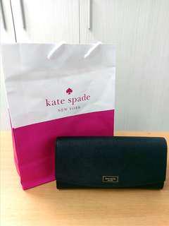 🚚 (含運)全新Kate Spade 黑色長夾