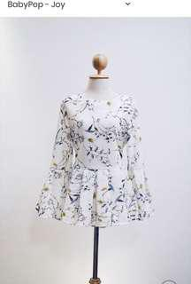 Happy Vibes White Floral Babydoll Top
