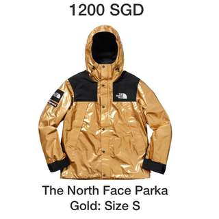 FW18 Supreme The north face parka gold