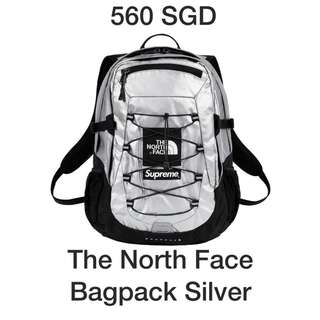 FW18 Supreme The north face silver backpack