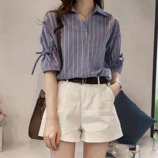 Stripes Shirt Top Blouse