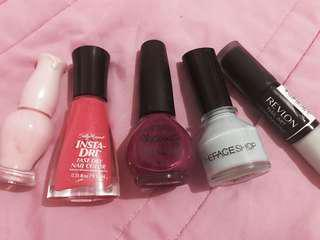 Barely used original nailpolishes (OPI, Etude house, Face shop, Revlon, Sally Hansen) - Message for other colors