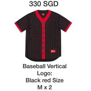 FW18 Supreme Baseball tee black