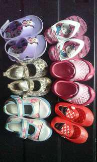 TAKE ALL! Baby Girl Shoes and Slippers Bundle (Size 18-1)
