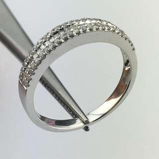 18K白金戒指 31份鑽石 18K Withe gold Ring 0.31ct Diamond