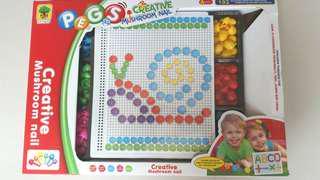 🚚 (二手)創造力拼圖玩具 9成新