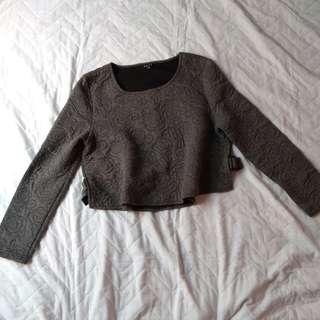 Korean cropped sweater