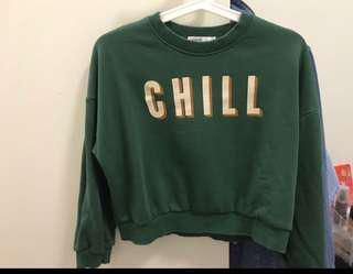 *New*Green Crop Sweatshirt