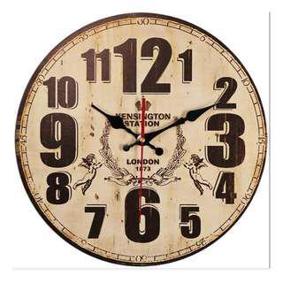 "14"" Vintage Design London Angels Wall Clock, 復古英倫天使款掛牆鐘"