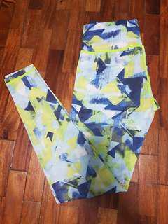 Green Blue Leggings