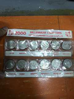 加拿大2000millennium quarters