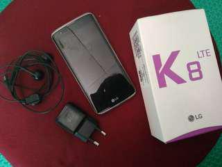 LG K8 Lte 2016 (fullset/no minus) / Handphone / HP