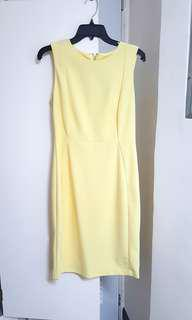 Yellow office/semiformal dress