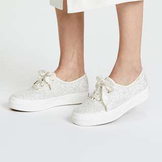 KEDS X Kate Spade Glitter platform sneaker