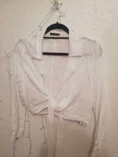 White wrap around/Tie up top