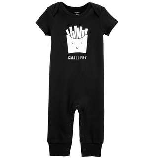 🚚 CABY131 Carter's Baby Girls Boys Small Fries Jumpsuit 12M