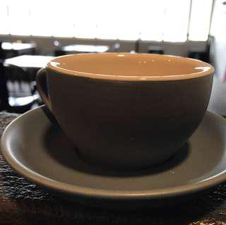 Matte Coffee Cup And Saucer