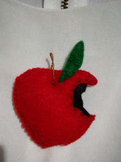Apple Pendant made of felt