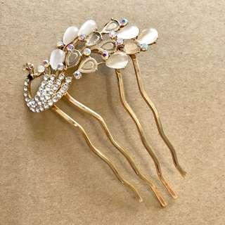 Swan Glitter Hair Comb / Hair Pin