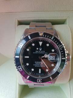W Cert and Box Rolex Submariner 16610
