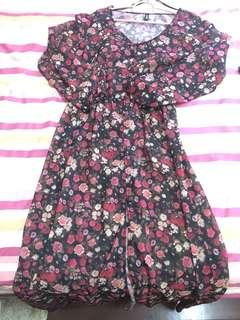 H&m long sheer slit dress