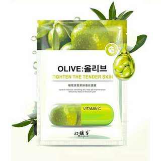 Masker olive (isi 10 pcs)
