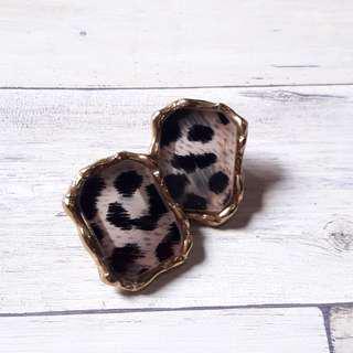 🚚 歐美華麗豹紋耳環