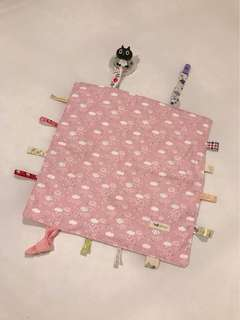 🚚 寶寶安撫巾  豆豆毯 緞帶 豬尾巴 韓國棉布 日本布。響鈴、響紙