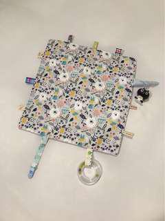 🚚 寶寶安撫巾  豆豆毯 緞帶 豬尾巴 韓國棉布 響紙、響鈴