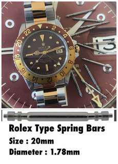 Rolex Type 1 pair  20mm Spring bar Datejust Accessories part