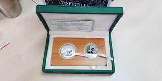 2012 Singapore / China Giant Panda 2-in-1 Silver Coin Set