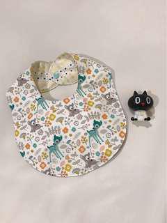 🚚 純棉手作小碎花圍兜  日本布 韓國布 二重紗  嬰兒 口水巾