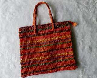 Orange Colorful Beach Bag
