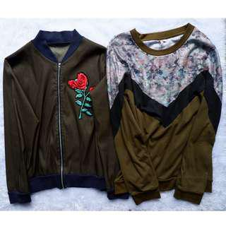 Bundle Green Jacket and Sweater